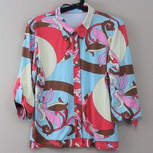 J. McLaughlin Catalina Cloth Button Down C375